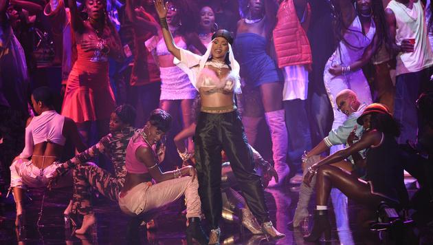 ... sondern trat gleich vier Mal bei den MTV Video Music Awards auf. (Bild: Chris Pizzello/Invision/AP)