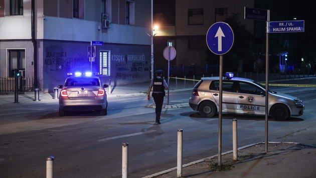 Anfang August wurde eine Bombe auf das kosovarische Parlament geworfen. (Bild: APA/AFP/ARMEND NIMANI)