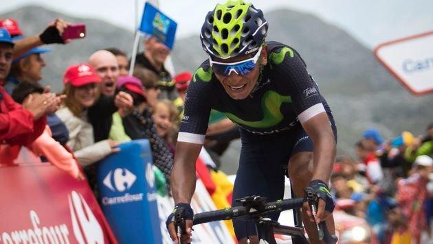 Etappensieg & erneute Vuelta-Führung für Quintana (Bild: AFP)