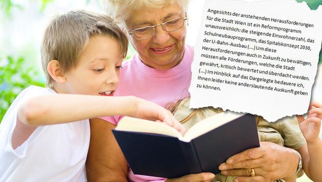 """Die Stadt Wien lehnte den Antrag auf eine erneute Förderung des Oma-Dienstes um 19.900 Euro ab. (Bild: Thinkstockphotos.com, """"Krone"""")"""