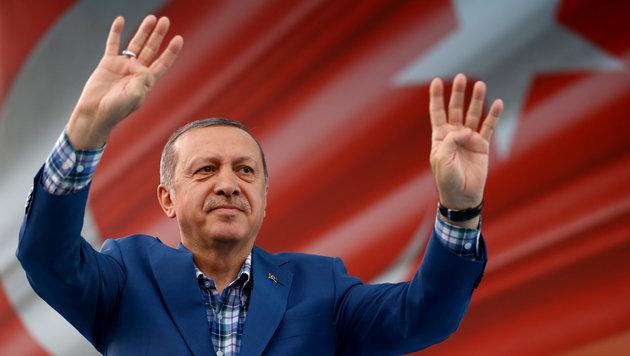 """Der türkische Präsident Recep Tayyip Erdogan (Bild: APA/AFP/TURKEY""""S PRESIDENTIAL PRESS)"""