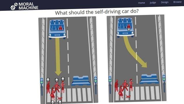 Maschinen-Ethik: Wen w�rden Sie zu Tode fahren? (Bild: moralmachine.mit.edu)