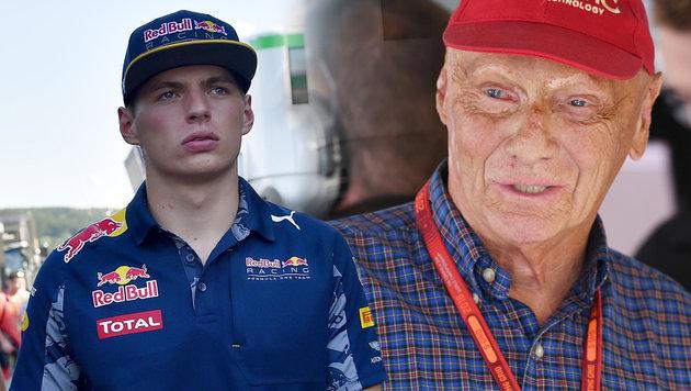 Youngster Verstappen l�dt Lauda zum Psychiater ein (Bild: AP, APA/AFP/LOIC VENANCE)