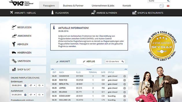 Hunderte Reisende saßen am Flughafen Wien fest (Bild: www.viennaairport.com)