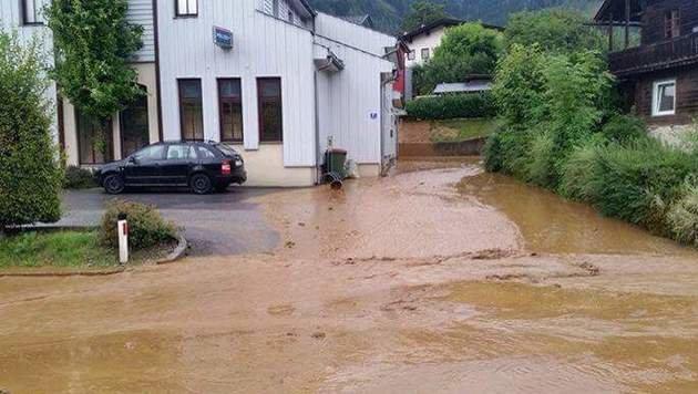 Chaos nach Unwettern in Kärnten und der Steiermark (Bild: Feuerwehr Afritz)