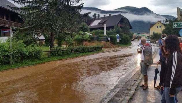 Chaos nach Unwettern in Kärnten und der Steiermark (Bild: FF Afritz)