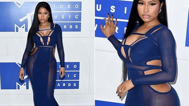 Nicki Minaj verzichtete auf ihr Höschen. (Bild: Evan Agostini/Invision/AP, APA/AFP/ANGELA WEISS)