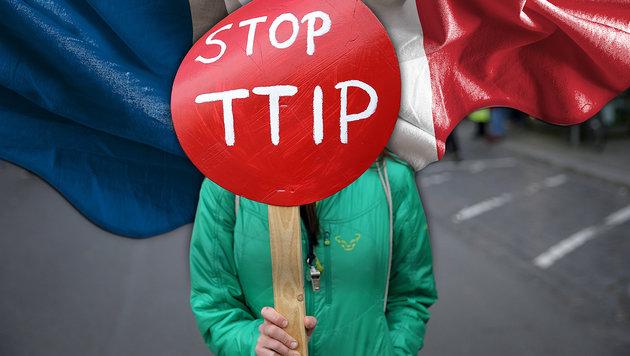"""Frankreich stellt sich nun """"eindeutig"""" gegen TTIP (Bild: dpa/Christian Charisius, thinkstockphotos.de)"""