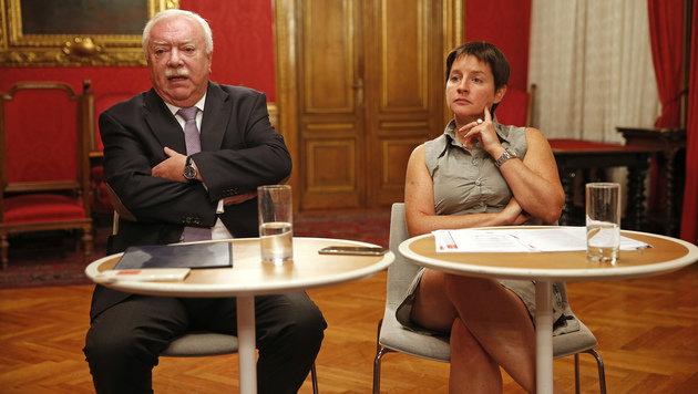 Michael Häupl und Sonja Wehsely bei der Fragestunde im Wiener Rathaus (Bild: Reinhard Holl)