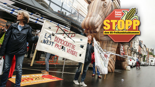 """Frankreich stellt sich nun """"eindeutig"""" gegen TTIP (Bild: AFP)"""