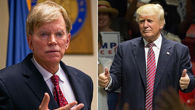 Ex-Ku-Klux-Klan-Chef David Duke unterstützt Donald Trump mit einer Wahlempfehlung. (Bild: AP, APA/AFP/SUZANNE CORDEIRO)