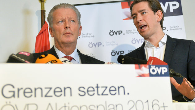 """ÖVP-Spitze: """"Fest im Sattel"""" sieht anders aus (Bild: APA/BARBARA GINDL)"""