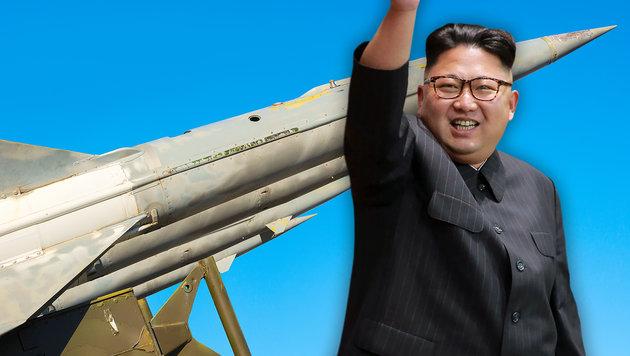 "Kims ""Atomwaffenstaat"" soll 2017 vollendet sein (Bild: thinkstockphotos.de, APA/AFP/KCNA/KNS)"