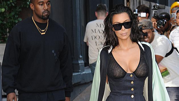 Kim Kardashian mit Kanye West (Bild: Viennareport)