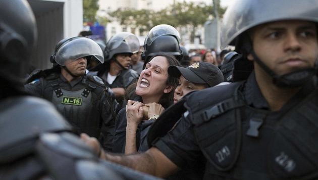 Auch während der Olympischen Spiele kam es zu zahlreichen Demonstrationen in Brasilien. (Bild: ASSOCIATED PRESS)