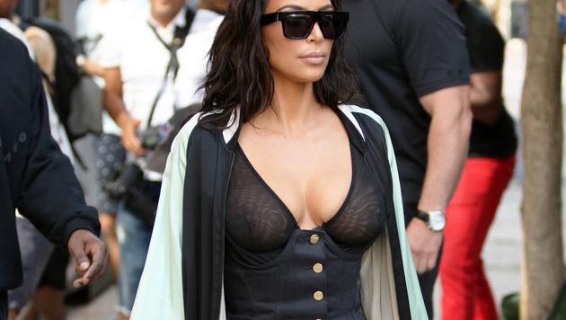Kim Kardashian ließ in New York ihre Nippel blitzen. (Bild: Viennareport)