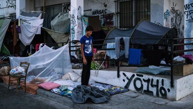Seuchengefahr in Athener Flüchtlingslager (Bild: AFP or licensors)