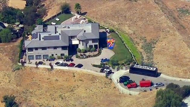 Die Villa von Chris Brown (Bild: AP)