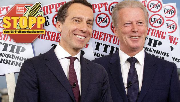 Die Vernunft hat gesiegt: Österreich sagt TTIP ab! (Bild: APA/GEORG HOCHMUTH, APA/GEORG HOCHMUTH)
