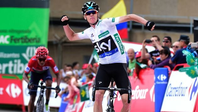 Froome sprintet vor Quintana zum Etappen-Sieg (Bild: AFP)