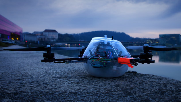 Linzer Drohnen machen im Showbiz Karriere (Bild: ArsElectronica/Christopher Sonnleitner)