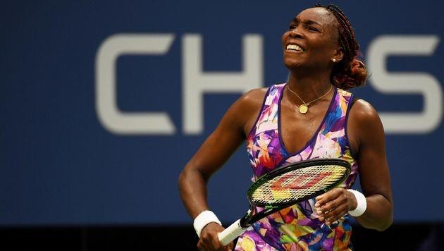 Auch Venus Williams hatte Grund zum Lachen. (Bild: APA/AFP/GETTY IMAGES/Mike Hewitt)