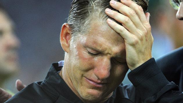 Schweinsteiger sagt unter Tr�nen Ad� zum DFB-Team! (Bild: GEPA)