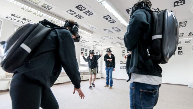 TU Wien macht Virtual Reality Beine (Bild: Illusion Walk/TU Wien)