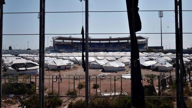 Seuchengefahr in Athener Flüchtlingslager (Bild: APA/AFP/LOUISA GOULIAMAKI)