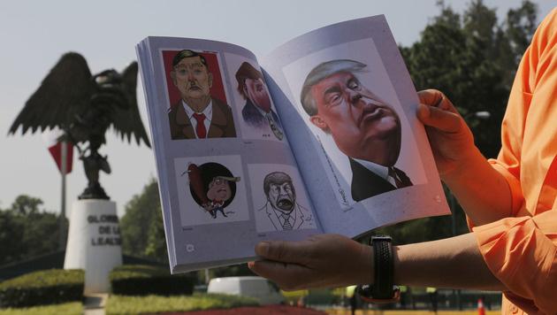 Trump brüskiert bei Mexiko-Besuch die Mexikaner (Bild: APA/AFP/ALEJANDRO AYALA)