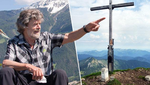 Reinhold Messner hält nicht viel von Gipfelkreuzen. (Bild: ServusTV, PI Bad Tölz)