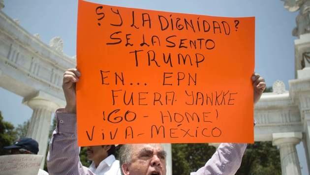 Proteste gegen Trump in Mexiko-Stadt (Bild: APA/AFP/ALEJANDRO AYALA)