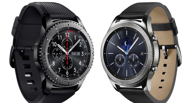 Die Gear S3 Frontier und die Gear S3 Classic (Bild: Samsung, krone.at-Grafik)