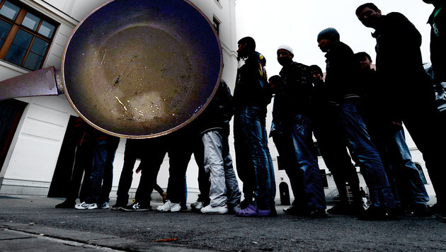 Asylwerber griffen Buben mit Pfanne und Messer an (Bild: APA, APA/LPD WIEN)