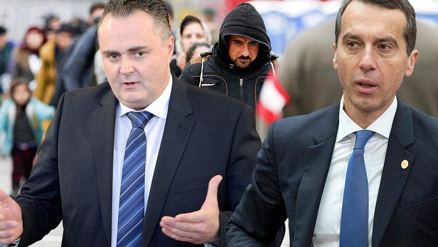 Die Asylpläne der SPÖ müssen nun mit dem Koalitionspartner abgestimmt werden. (Bild: APA/ERWIN SCHERIAU, APA/ROLAND SCHLAGER, ASSOCIATED PRESS)