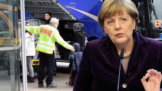 """Merkel: """"Abschiebungen sind nun das Wichtigste"""" (Bild: APA/AFP/ULI DECK, AP)"""