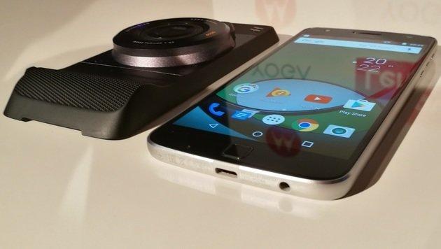 Moto Z Play und Hasselblad-Kameramodul angekündigt (Bild: Dominik Erlinger)