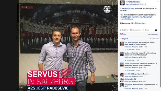 Salzburg holt auch noch kroatischen Serie-A-Kicker (Bild: Screenshot Facebook.com)