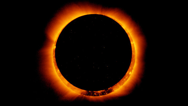 Wunderschön: Sonnenfinsternis über Afrika (Bild: APA/AFP/GETTY IMAGES/NASA)
