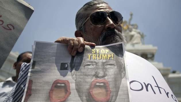 Kommt jetzt die große Mauer, für die Mexiko zahlt? (Bild: APA/AFP/ALEJANDRO AYALA)