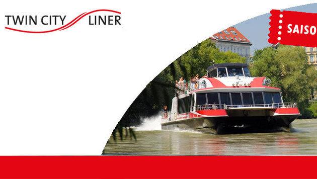 """""""Mit dem Twin City Liner von Wien nach Bratislava! (Bild: http://www.twincityliner.com/)"""""""