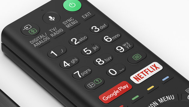 Tasten auf der TV-Fernbedienung haben ausgedient (Bild: Sony)
