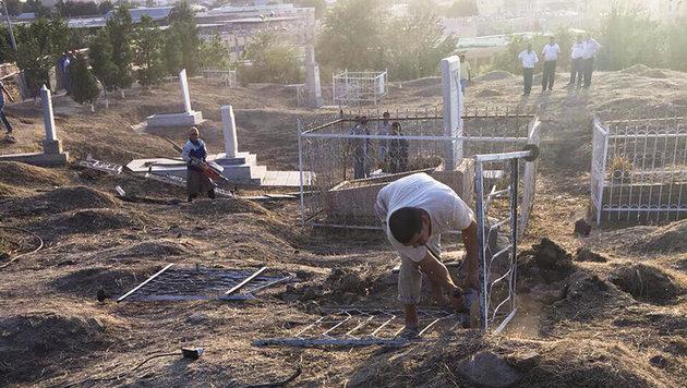 Grabungsarbeiten in Samarkand (Bild: AP)