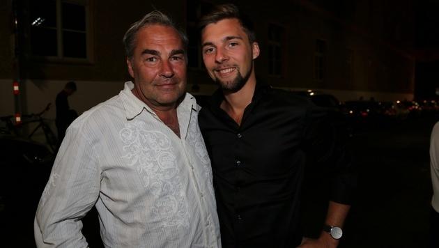Christian Brandauer mit Sohn Adrian (Bild: Karl Schöndorfer)