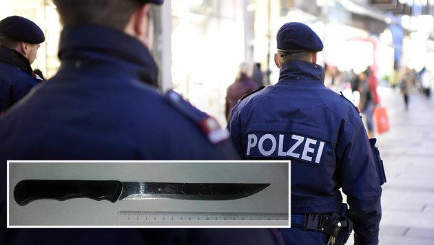 Betrunkener geht mit Messer auf Lokalbesitzer los (Bild: APA/HELMUT FOHRINGER, LPD WIEN)