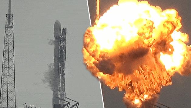 Facebook-Satellit bei Raketenexplosion zerst�rt (Bild: YouTube.com)