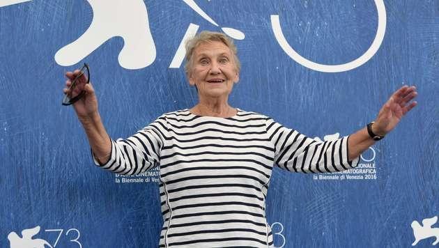Ingrid Burkhard auf dem Venediger Lido (Bild: AFP)