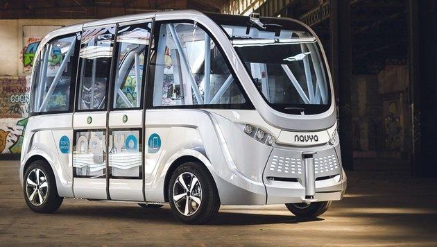 Lyon testet selbstfahrenden Minibus (Bild: Navya)