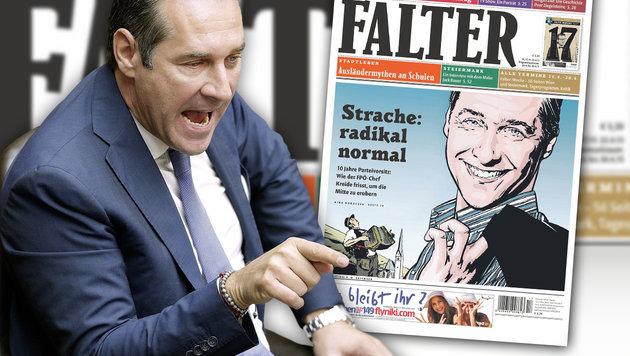 """Strache: """"Gerne mit Redakteuren zum Drogentest"""" (Bild: APA/GEORG HOCHMUTH, FALTER)"""