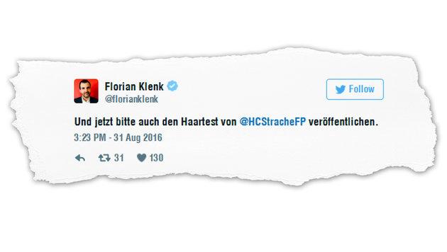 """Strache: """"Gerne mit Redakteuren zum Drogentest"""" (Bild: twitter.com)"""